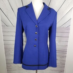 KASPER | royal blue botton up blazer size 6